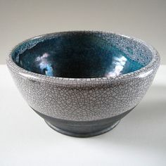 Raku bowl in turquoise and white | Flickr - Photo Sharing!