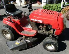 "Yard machines by MTD 742RL riding lawn mower in very good condition, has a 17.5 HP Briggs & Stratton engine, 42"" mower deck, includes bagger and aerator, and a trailer which is in fair condition."