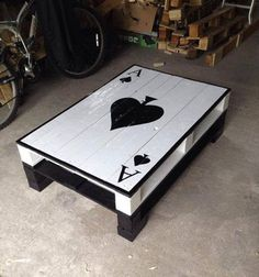 like this idea for a game room- other tables with the other aces to match