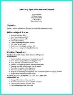 Data Entry Job Description For Resume entry level data entry resume template Your Data Entry Resume Is The Essential Marketing Key To Get The Job You Seek