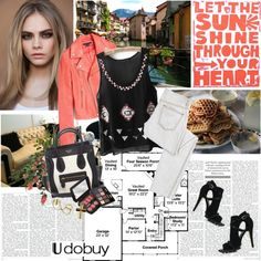 """""""Chic in the city"""" by electric-bird ❤ liked on Polyvore"""