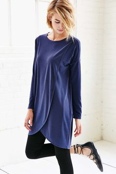 Silence + Noise Tulip Hem Tunic Dress - Urban Outfitters