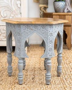 Handcrafted from sustainable mango wood. Coffee Table Nz, Coffee Table With Drawers, Grey Furniture, Furniture Making, Arabian Nights Bedroom, Blue Bedside Tables, Low Sideboard, Art Deco Mirror, Moroccan Decor