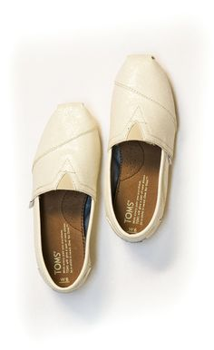 One of our most popular #TOMSWedding styles, the Ivory Glitter Classics