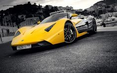 marussia sport car yellow