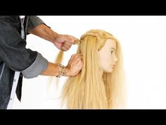 Sam Villa demonstrates how to create a waterfall braid, but modified! Learn how you can create the illusion of a basket weave but with the character of a wat. Loose Hairstyles, Braided Hairstyles, Waterfall French Braid, About Hair, Hair Today, Hair Hacks, Curly Hair Styles, Hair Care, Braids
