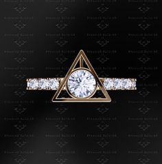Fans of Harry Potter will want to get a special engagement ring, and actually there are so many variation of Harry Potter themed rings. Harry Potter Engagement Ring, Harry Potter Wedding Rings, Harry Potter Ring, Engagement Rings, Anillo Harry Potter, Bijoux Harry Potter, Fans D'harry Potter, Harry Potter Merchandise, Golden Snitch