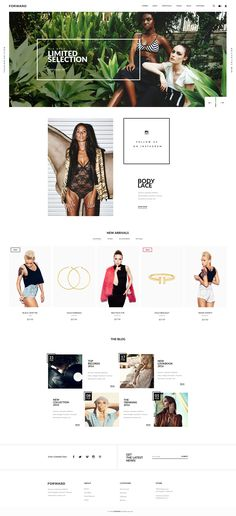 FORWARD – ecommerce theme for online fashion stores.  Clean, Modern and Professional design.   Features:   2 Home pages 2 Shop styles 2 Footer layouts 11 PSD files (more to come)   Based on Boot...