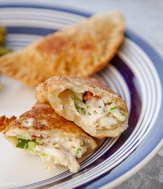 Cheese & Poblano Empanadas - 35 pieces per tray Lobster Recipes, Seafood Recipes, Mexican Food Recipes, Cooking Recipes, Healthy Recipes, Ethnic Recipes, Dishes Recipes, Recipes Dinner, Yummy Recipes