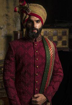 PuneetandNidhi presents wide collection of wedding sherwani for men in Noida, Delhi NCR & California. Designer and stylish Royal Sherwani collection. Indian Wedding Suits Men, Sherwani For Men Wedding, Mens Indian Wear, Mens Ethnic Wear, Sherwani Groom, Mens Sherwani, Indian Men Fashion, Groom Fashion, Punjabi Wedding