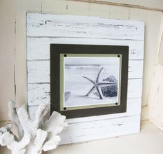 X-tra Large White Distressed 21x21 Plank Frame by ProjectCottage