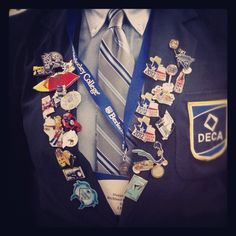 """@californiadeca's photo: """"Day 2 of #decamonth photo challenge is the always classy #DECA blazer. And, who doesn't love some pins from ICDC? @DECA Inc. #decaswag @decamonth"""""""