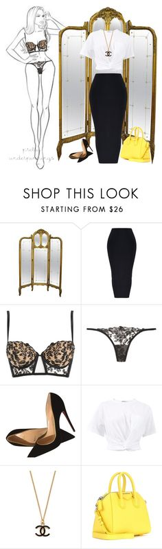 """Untitled #575"" by fashondoll ❤ liked on Polyvore featuring La Perla, Christian Louboutin, T By Alexander Wang and Givenchy"