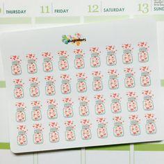 B69 Love Wish Jars Planner Stickers for Erin Condren, Day Designer, Filofax planners