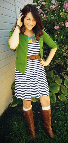 Lauren: Boots, Belts & Bib Necklaces | Stylin' Mommies