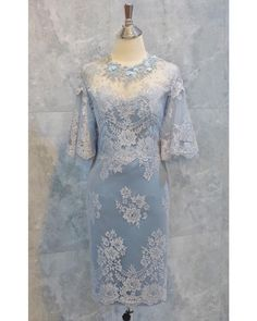 Dress Brokat Modern, Kebaya Modern Dress, Batik Dress, Lace Dress, Traditional Dresses Designs, Latest African Fashion Dresses, Evening Dresses, Formal Dresses, Simple Dresses