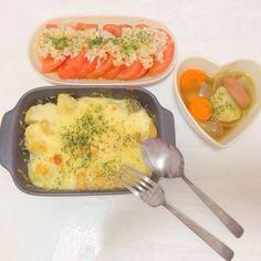 マカロニポテトグラタン  ポトフ  冷やしトマトの新玉ねぎドレッシング - 5件のもぐもぐ - 4/30 夜ごはん by 0720babyrSQ