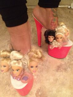Fashionable Barbie Doll High Heel Shoes: A huge hit with drag queens & Hookers across the U.S of A
