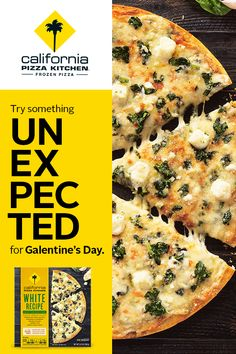 Try something unexpected for Galentine's Day with California Pizza Kitchen's White Recipe Frozen Pizza! With ricotta cheese, creamy garlic sauce, a little garlic on top, and leafy green spinach, our White Recipe Pizza changes the way you think of frozen c Low Carb Side Dishes, Side Dish Recipes, Pizza Recipes, Lunch Recipes, Low Carb Recipes, Vegetarian Recipes, Dinner Recipes, Cooking Recipes, Healthy Recipes