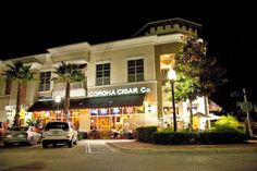 Corona Cigar Bar in Lake Mary, Florida. A young, fun place to hangout and smoke a Swisher Cigar with a drink and good friends.
