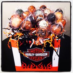 Harley Davidson cake pops!