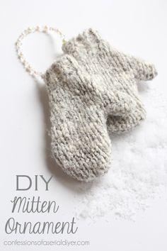 DIY Mitten Ornament