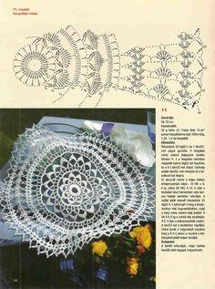 Free Crochet Doily Patterns, Crochet Motif, Crochet Designs, Crochet Doilies, Crochet Potholders, Crochet Tablecloth, Mandala Floral, Crochet Dreamcatcher, Crochet Round