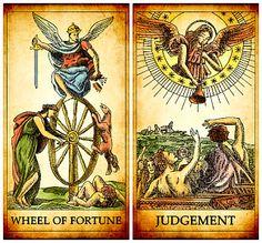 Magia no Dia a Dia: Mensagem do Tarot: A Roda da Fortuna e O Julgament...