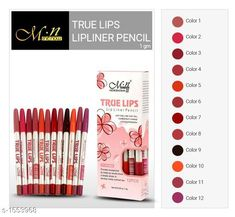 Lips Standard Choice Lip Care Lip Liner Product Name: Miss Rose True Lips Lip Liner Pencil Brand Name: Miss Rose Product Type: Lip Liner Shade: Multi-color Description: It Has 1 Pack Of Lip Liner Pencil ( Packing Contains 12 Pieces ) Sizes Available: Free Size This product has very limited stock. Order fast! *Proof of Safe Delivery! Click to know on Safety Standards of Delivery Partners- https://ltl.sh/y_nZrAV3  Catalog Rating: ★4.1 (5991)  Catalog Name: Premium Choice Lip Care Products Vol 7 CatalogID_202018 C51-SC1243 Code: 091-1553968-