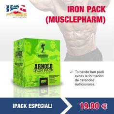 Todas las ofertas se encontrarán disponibles hasta agotar existencias. ¡STOCK LIMITADO!   http://usafitness.es/es/vitaminas/2097-iron-pack.html