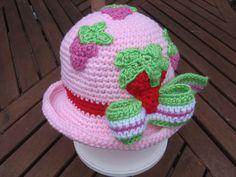 Crochet Strawberry Shortcake Hat