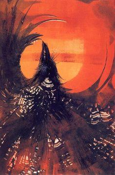 "Love LOVE this Reaching Raven.going upwards into the Universal Light. ""Raven Kachina"" by Susan Seddon Boulet Crows Ravens, Rabe, Visionary Art, Animals Images, Native American Art, Spirit Animal, Photo Art, Mystic, Fantasy Art"