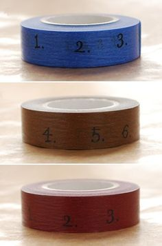 numbered washi tape
