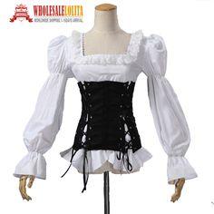 Renaissance Medival jeune fille de Pirate Vixen Steampunk Blouse Femmes…