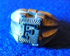 Sterling Silver Signet Ring Vintage 1920's Letter F by TheCowgirlClubhouse on Etsy