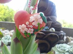 Apple heart with blossoms