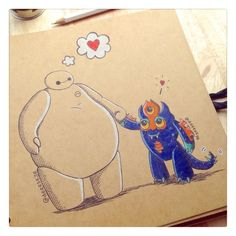 baymax as other disney characters - Google Search