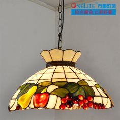 0e1d0c0b55fc Aliexpress.com   Buy new arrival Rustic fruit tiffany lighting restaurant  lamp dining room pendant light free shipping from Reliable pendant lights  ...
