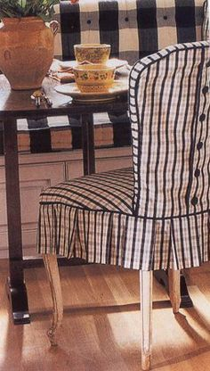 Adorable Button Back Dining Chair Slipcover With Pleats
