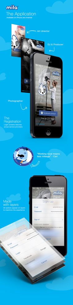 Mila - User Experience and Interface Design by Martin Bradley , via Behance