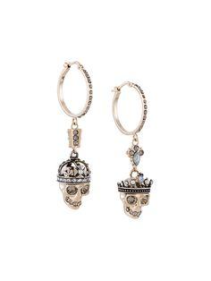ALEXANDER MCQUEEN  'King and Queen' hoop earrings