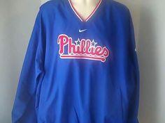 Nike Philadelphia Phillies MLB Mens XXL Red White Blue Jacket Baseball #Nike #PhiladelphiaPhillies