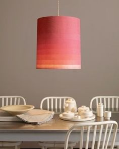 Pretty ombre lamp from fabric:  Simple ez craft project- Jazz up your lamp with some Clothworks Shades Fabric