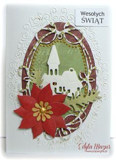 Church with greens - christmas card - Scrapbook.com