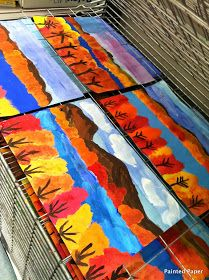 PAINTED PAPER: Lake George NY Landscapes