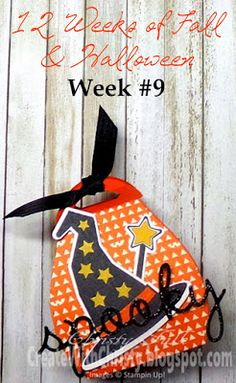 Stampin' Up! Howl-o-ween Treat Curvy Keepsake Treat Box - a different way to use the Curvy Keepsake Box Thinlits - Free, illustrated, step-by-step tutorial included in the blog post - Create With Christy: 12 Weeks of Fall & Halloween - Week #9 - Christy Fulk, Stampin' Up! Demo