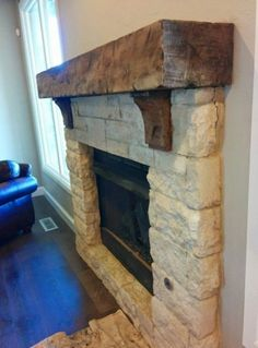 4 Easy And Cheap Ideas: Decorative Fireplace Screen open fireplace grate.Fake Fireplace With Tv stone fireplace.Fireplace With Tv Above Built Ins. Fireplace Beam, Limestone Fireplace, Farmhouse Fireplace, Fireplace Remodel, Fireplace Mantle, Fireplace Surrounds, Fireplace Design, Fireplace Kitchen, Fireplace Outdoor