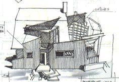 Frank Gehry. Sketch By EDWIN DIAZ