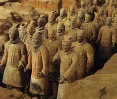 The famous Terracotta Warriors were created during the Qin Dynasty Chinese Culture, Chinese Art, China Facts, Zhou Dynasty, Peking, Cultural Studies, Historical Artifacts, Asian History, Ancient China