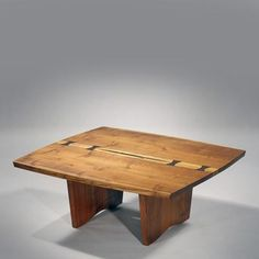 Perfect Special Square Coffee Table, 1973 By George Nakashima